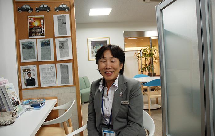 国際自動車(kmタクシー)人財研修課の研修コーチ垣内さんの写真