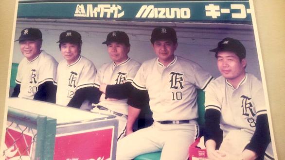 国際自動車(㎞タクシー)吉祥寺営業所所属のベテランタクシードライバー橋本さんの野球部での写真